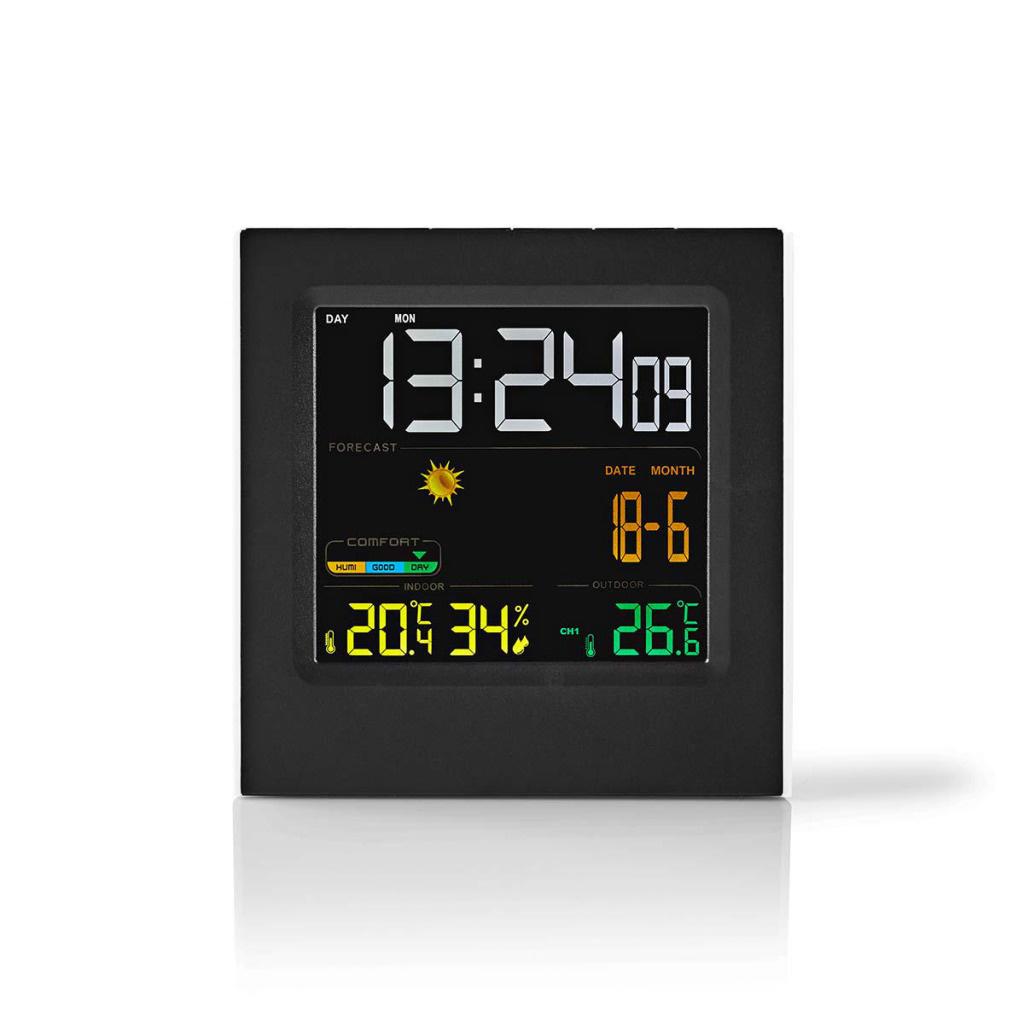 Nedis Nedis WEST404BK Weerstation Draadloze Sensor Alarmklok Weersvoorspelling