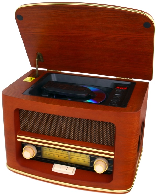 Camry CR 1109 - Retro houten radio met CD/ MP3/USB