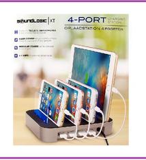 Soundlogic Oplaadstation voor 4 apparaten - 4 USB poorten