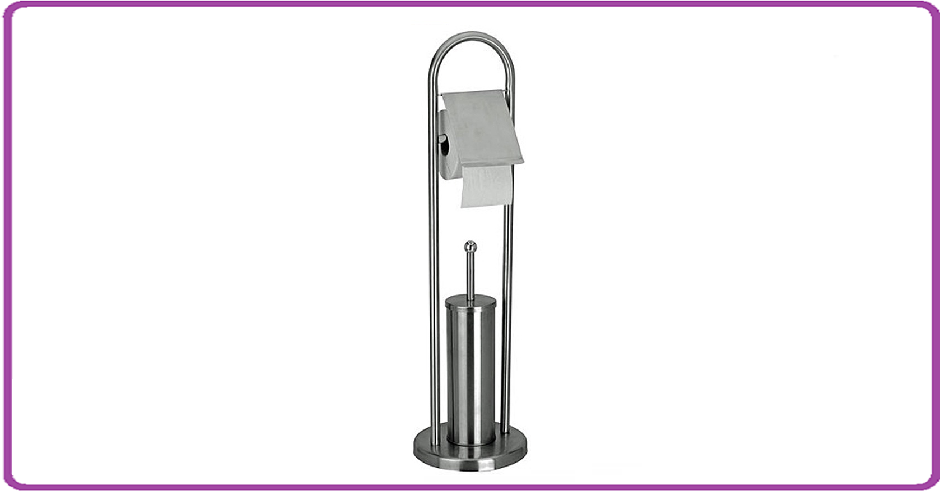 Bathroom Solutions Toiletrolhouder met toiletborstel RVS