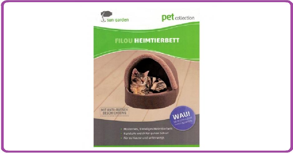 Sun Garden Filou Luxe Honden- en Kattenbed 42x45x41cm Grijs