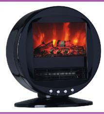 Elektrische kachel met vlameffect - 2000W - zwenkend