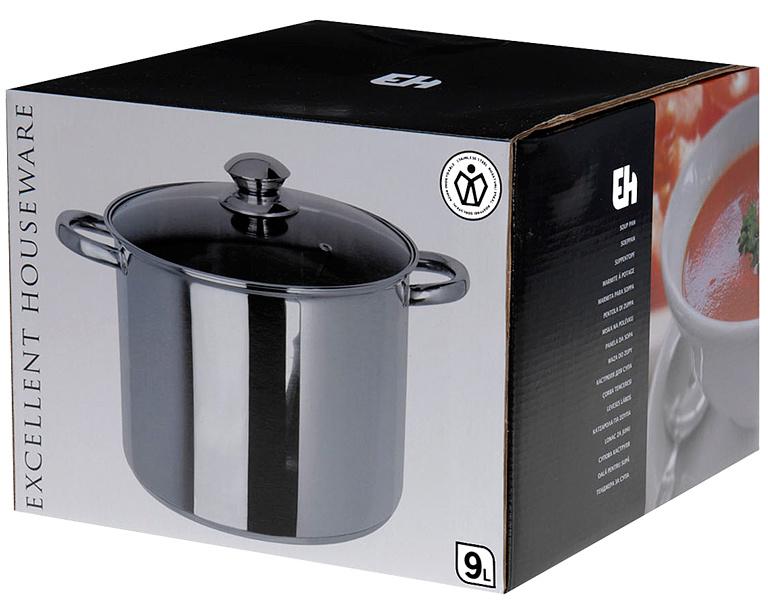 Excellent Houseware RVS Soeppan met deksel (9 liter)