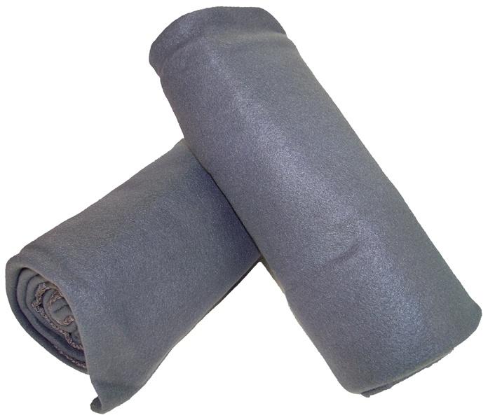 2 Pack Fleece Dekens grijs