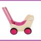 Simply for Kids Houten Poppenwagen Roze