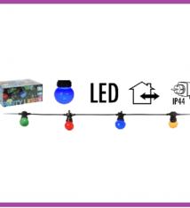 Feestverlichting 10 gekleurde LED-lampen - 8 lichtfuncties