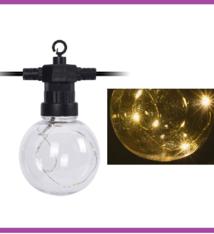 Feestverlichting 10 LED-lampen - met timer - op batterij