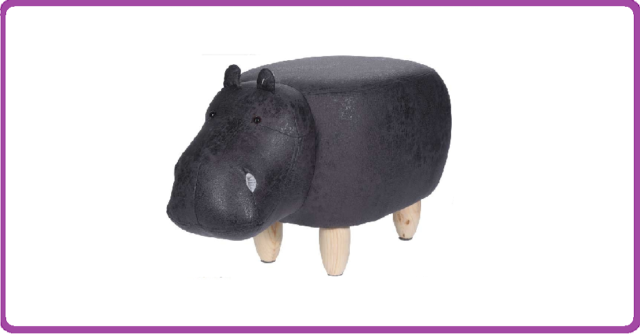 Ceruzo Poef nijlpaard - voetenbank
