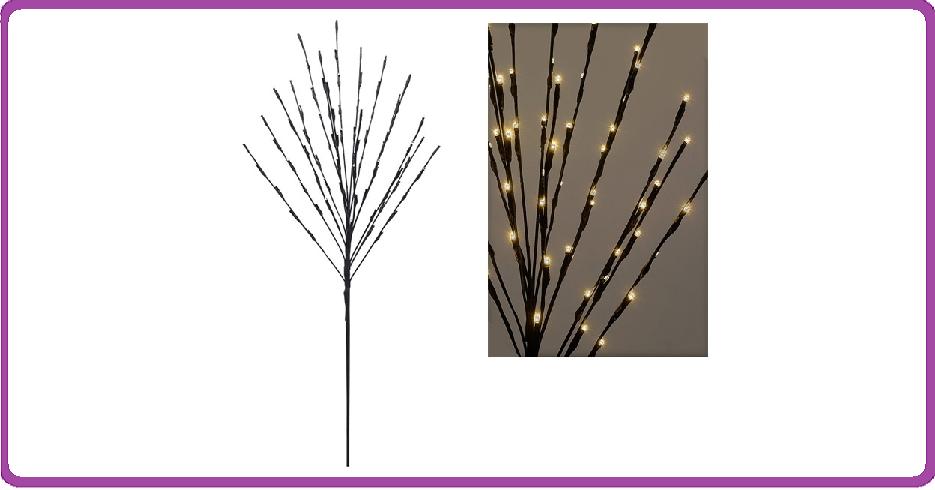 DecorativeLighting Verlichte Boom 110cm met 80 warm witte LED's en timer