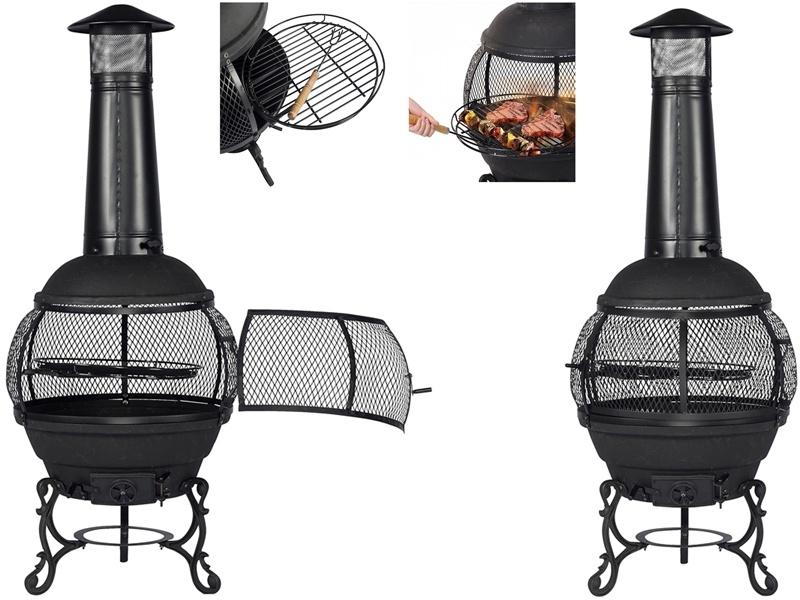Ambiance Terrashaard met BBQ-rooster 142cm hoog