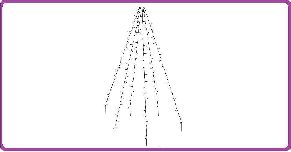 DecorativeLighting Vlaggenmast verlichting 360 LED's - 800cm