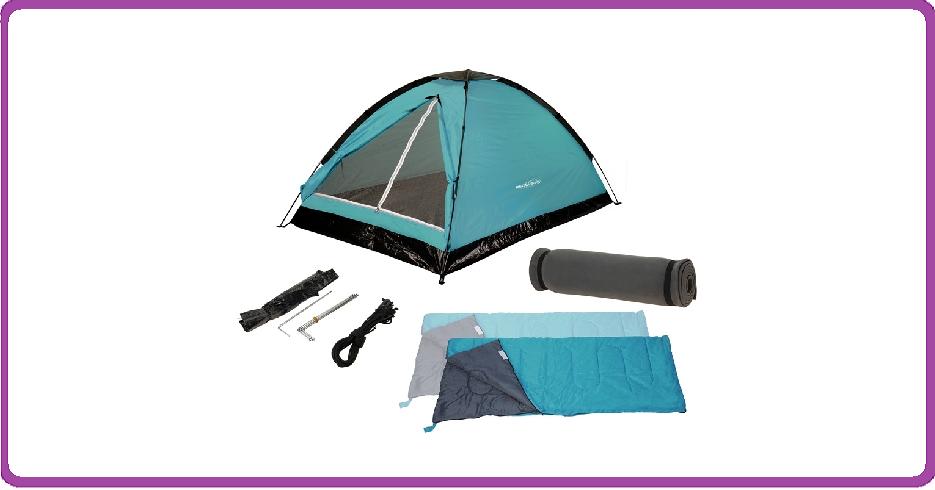 Redcliffs Kampeerset - 2-personen - Tent + Slaapzakken + Matjes