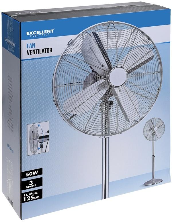 Excellent Electrics Ventilator chroom met 3 snelheden