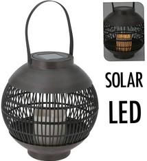 Home & Styling Solar lantaarn LED 23 cm - basket
