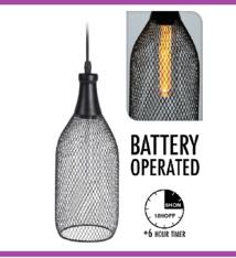 Home & Styling Hanglamp - draad - met timer - 31x12 cm