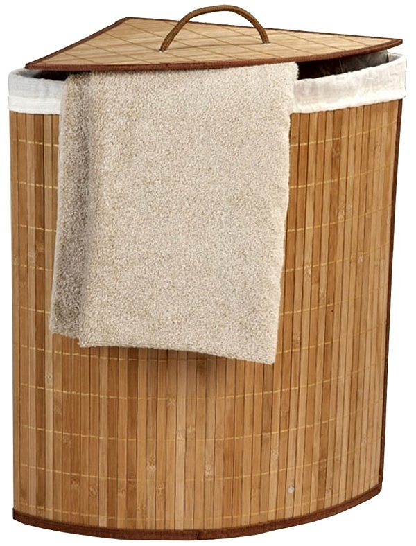 Déluxa Wasmand met waszak - bamboe - driehoek