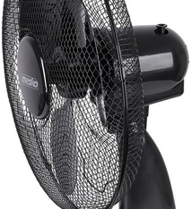 Mesko MS7308 - Tafelventilator zwart - 23cm