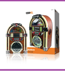 BasicXL BXL-JB10 Retro Jukebox met AM/FM Radio en CD-Speler