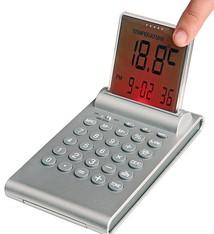 Multifunktionele alarm klok met push-up LCD display