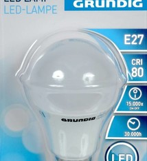Grundig LED lamp, warm wit, 8W (=50W gloeilamp)