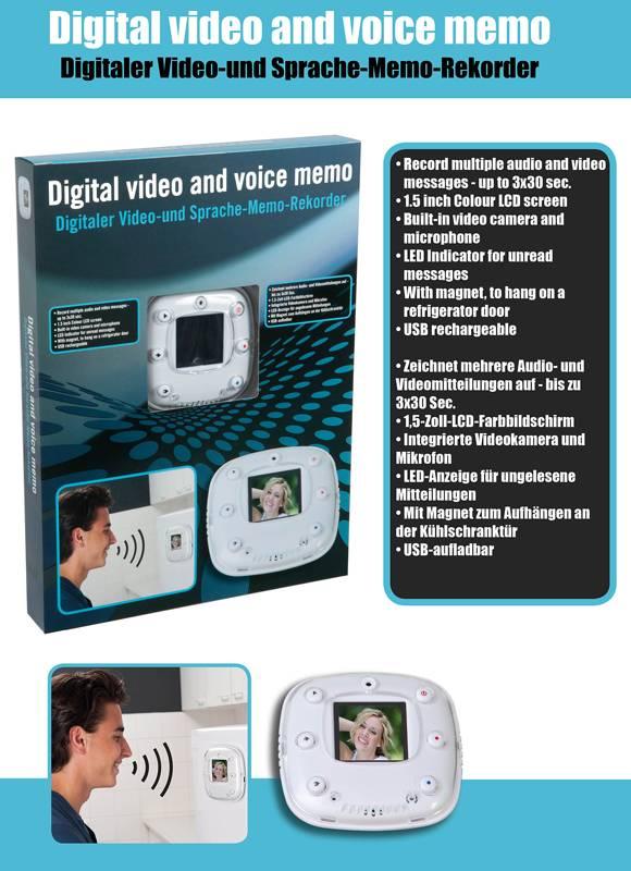 Excellent Houseware Digitale video- en spraakmemo
