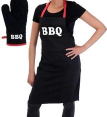 Barbecue-schort met handschoen