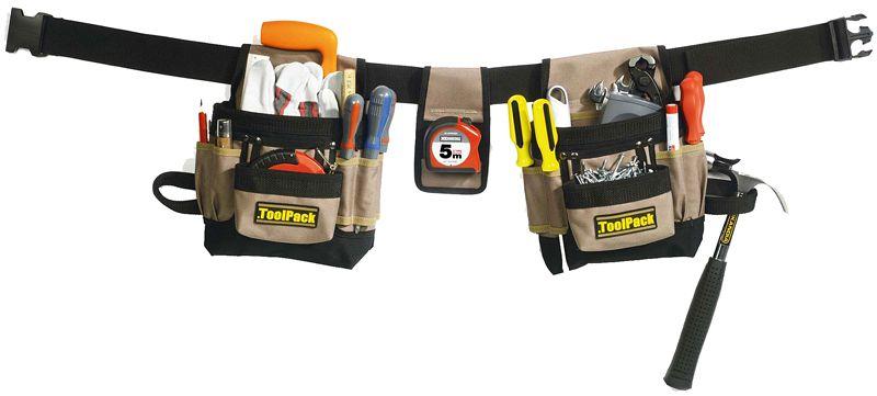 ToolPack Gereedschapgordel met 2 tassen