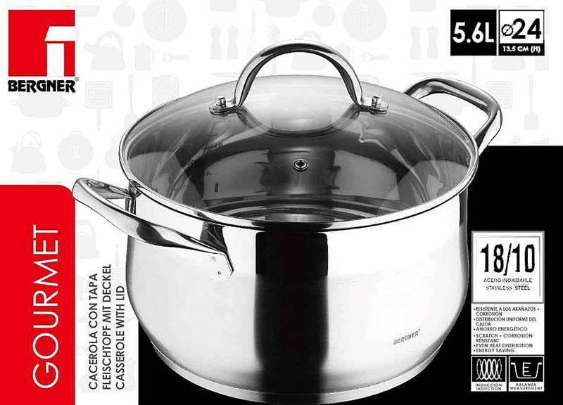 Bergner RVS kookpan 24cm - 5,6 liter