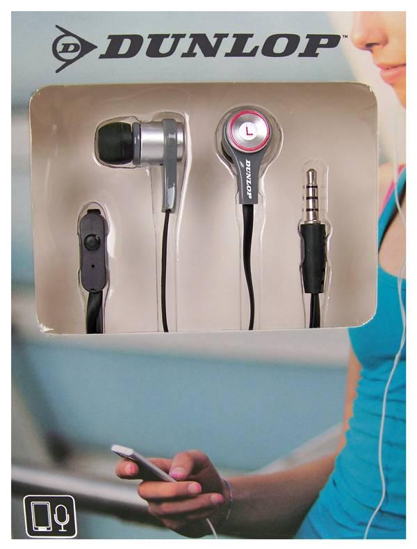 Dunlop In-ear stereo sportdopje zwart