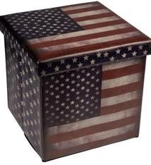 Opvouwbare poef USA 38x38x38cm