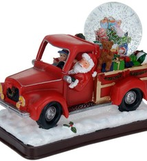 Kerstman in pickup truck