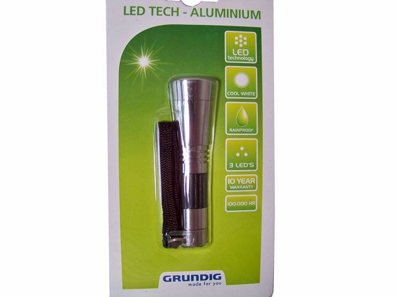 Grundig zaklamp 3 LED