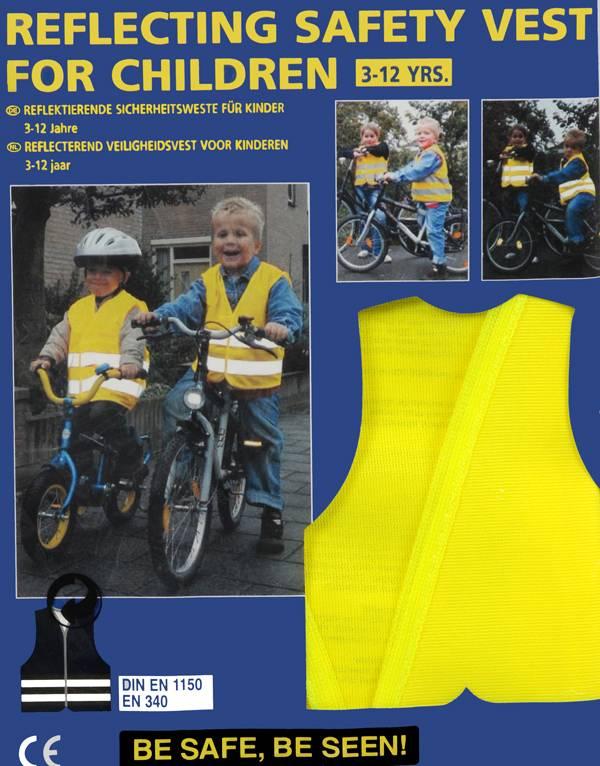 Reflecterend veiligheidsvest voor kinderen
