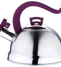 Bergner RVS fluitketel 2.5 liter (paars)
