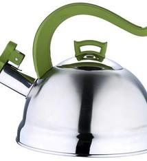 Bergner RVS fluitketel 2.5 liter (groen)