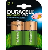 Duracell batterijen oplaadbaar type D (2stuks)