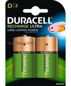 batterijen oplaadbaar type D (2stuks)