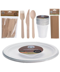 BBQ barbecue servies pakket