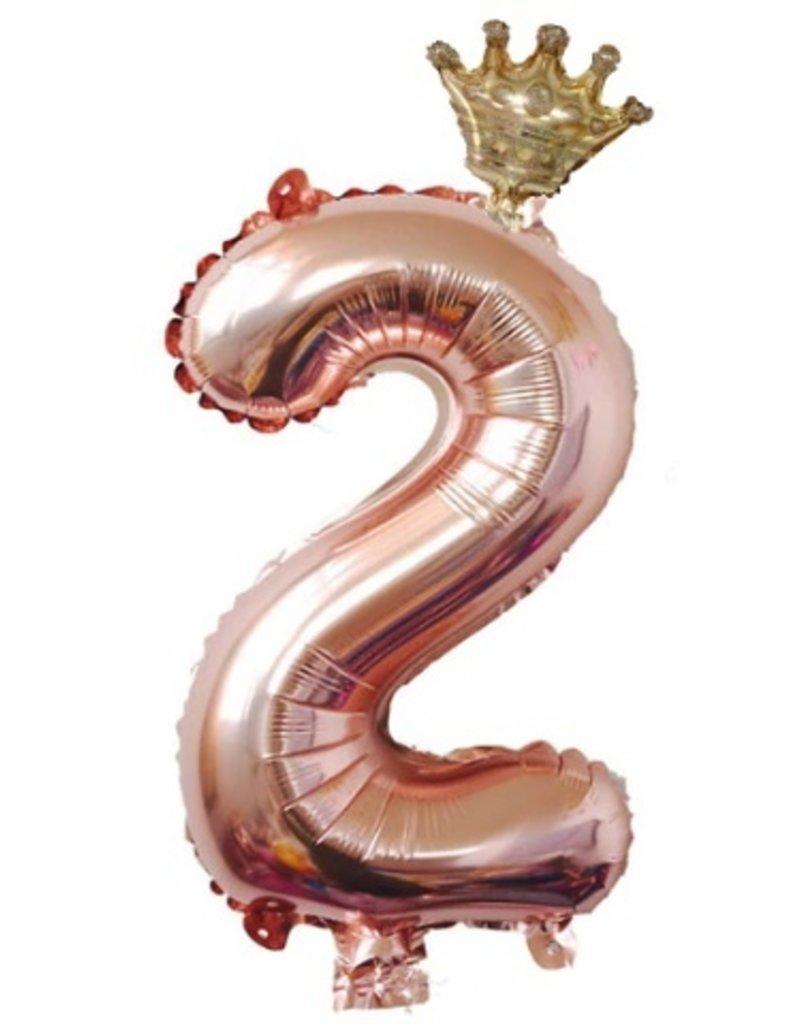 Annienas cijfer ballon met kroon