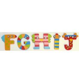 Tatiri houten alfabet letters F t/m J