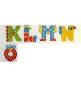 Tatiri houten alfabet letters K t/m O
