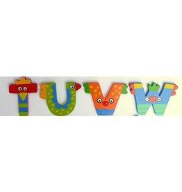 Tatiri houten alfabet letters T t/m W