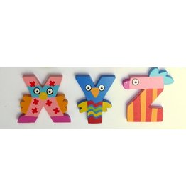 Tatiri houten alfabet letters X t/m Z