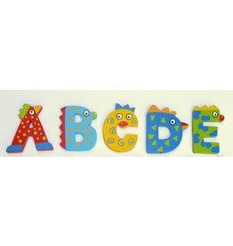 Tatiri houten alfabet letters B t/m D