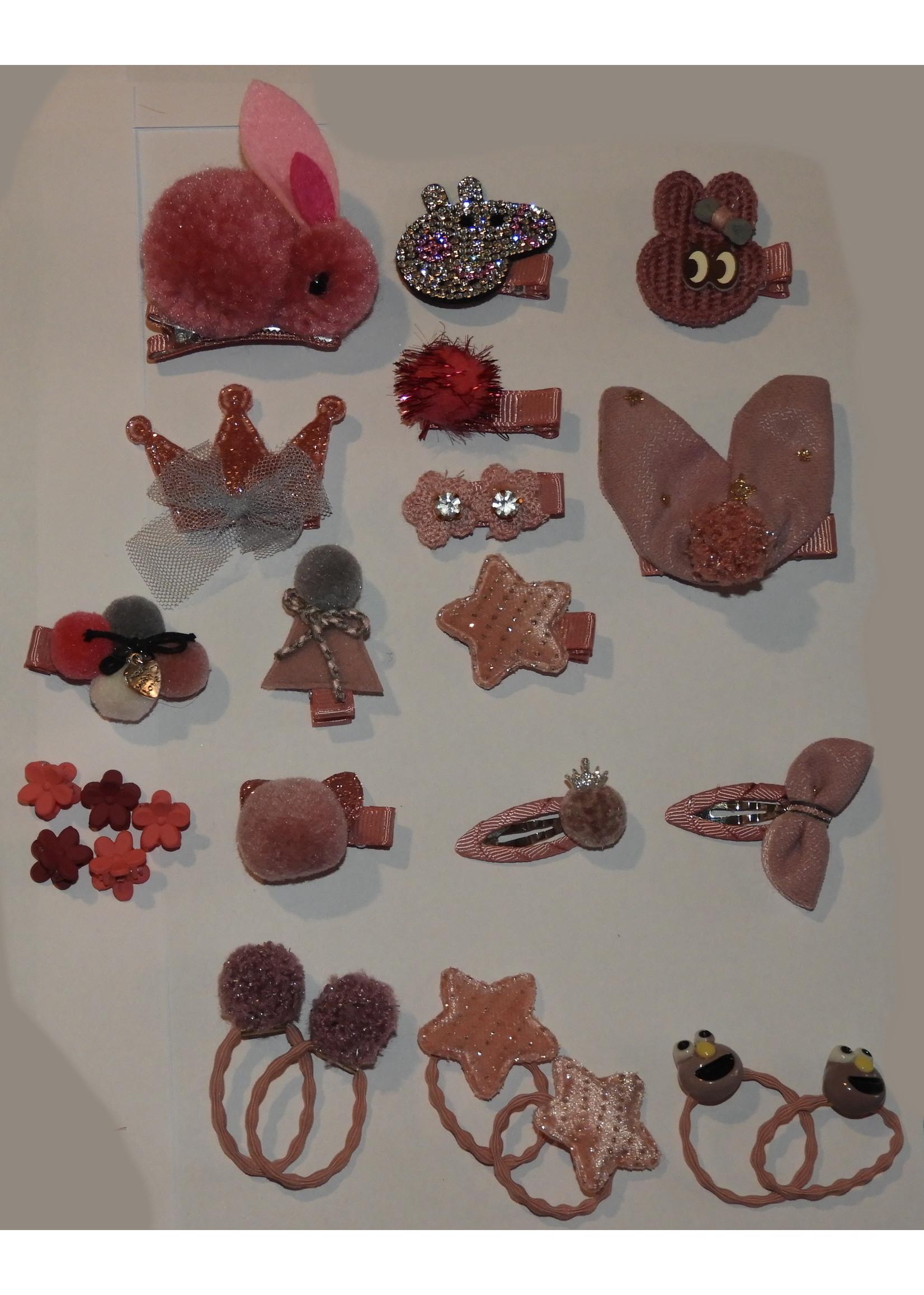 Annienas haar decoratie old pink