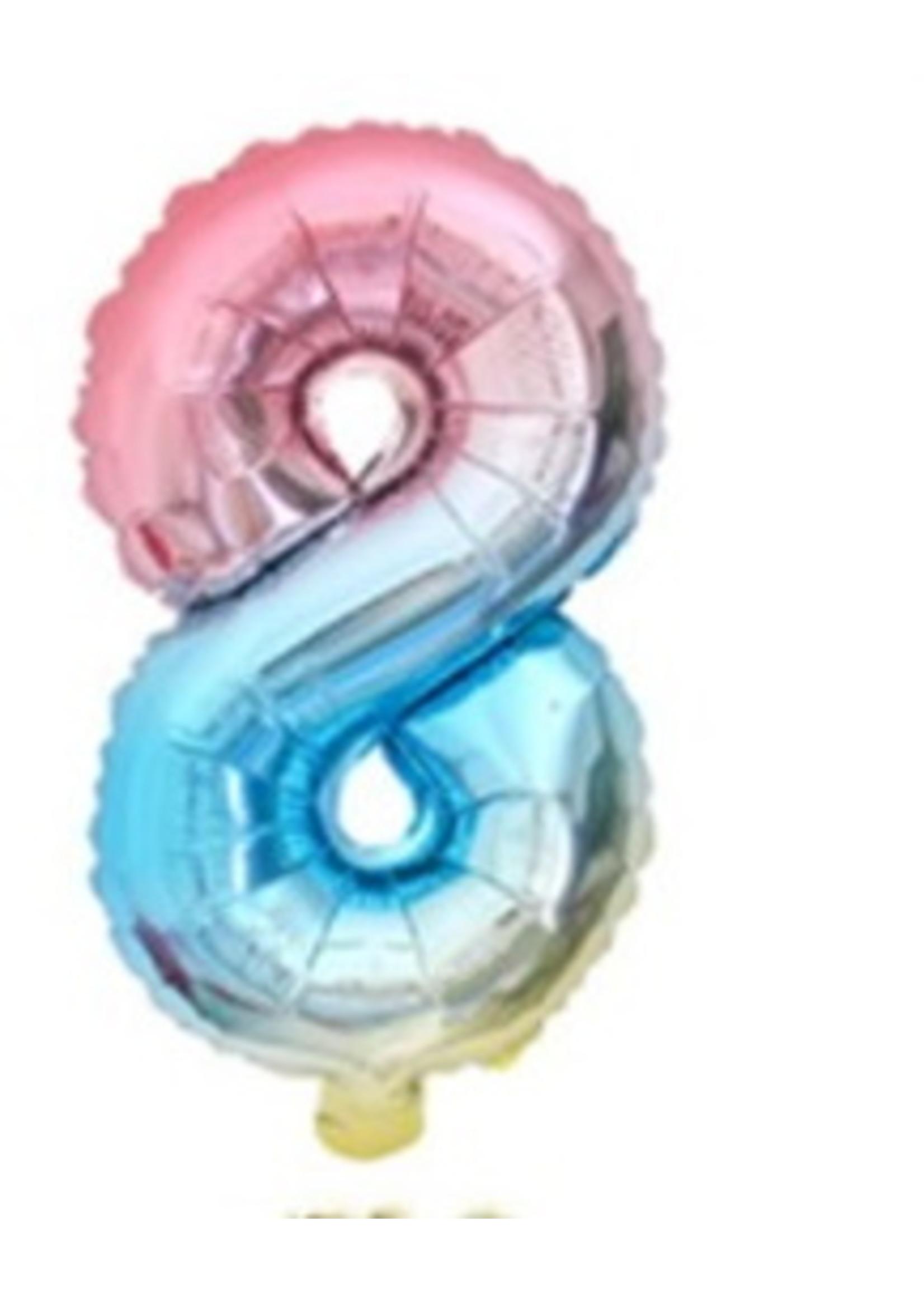 Annienas Cijfer ballon regenboog
