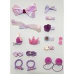 Annienas haar decoratie paars/roze