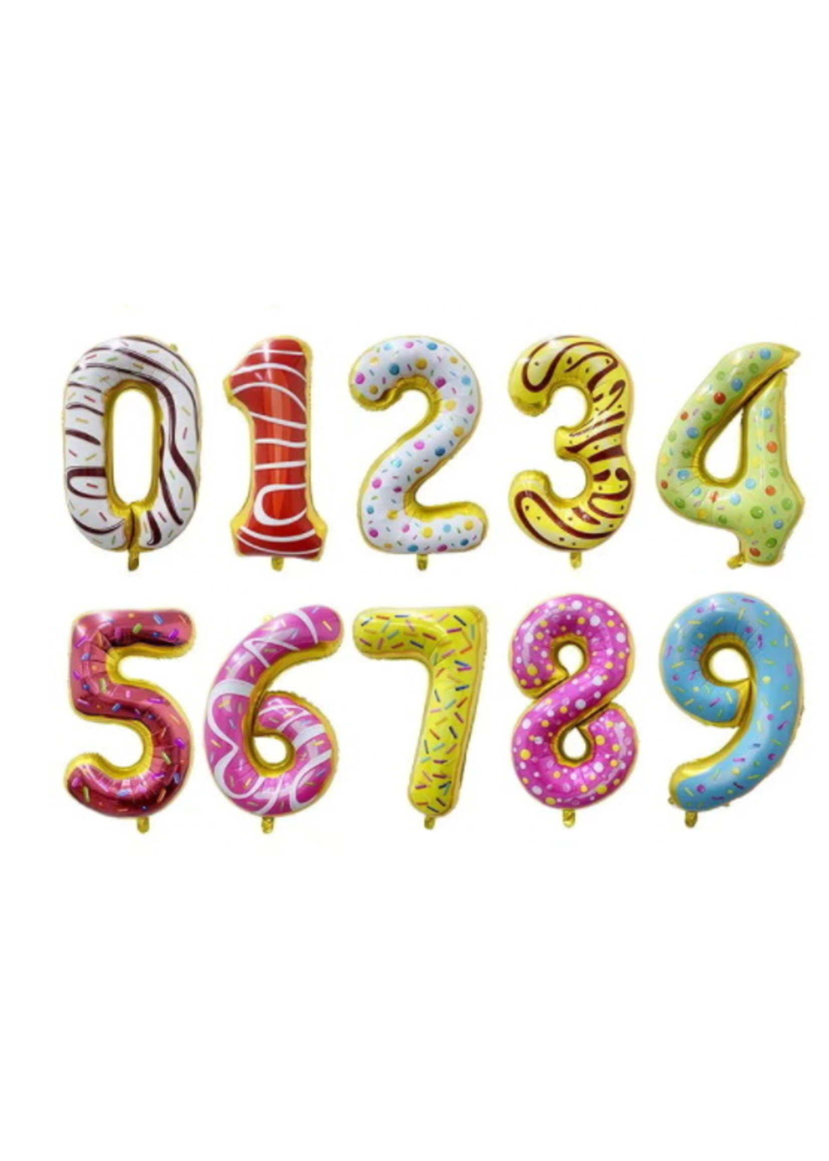 Annienas donut cijfer ballon 80 cm.