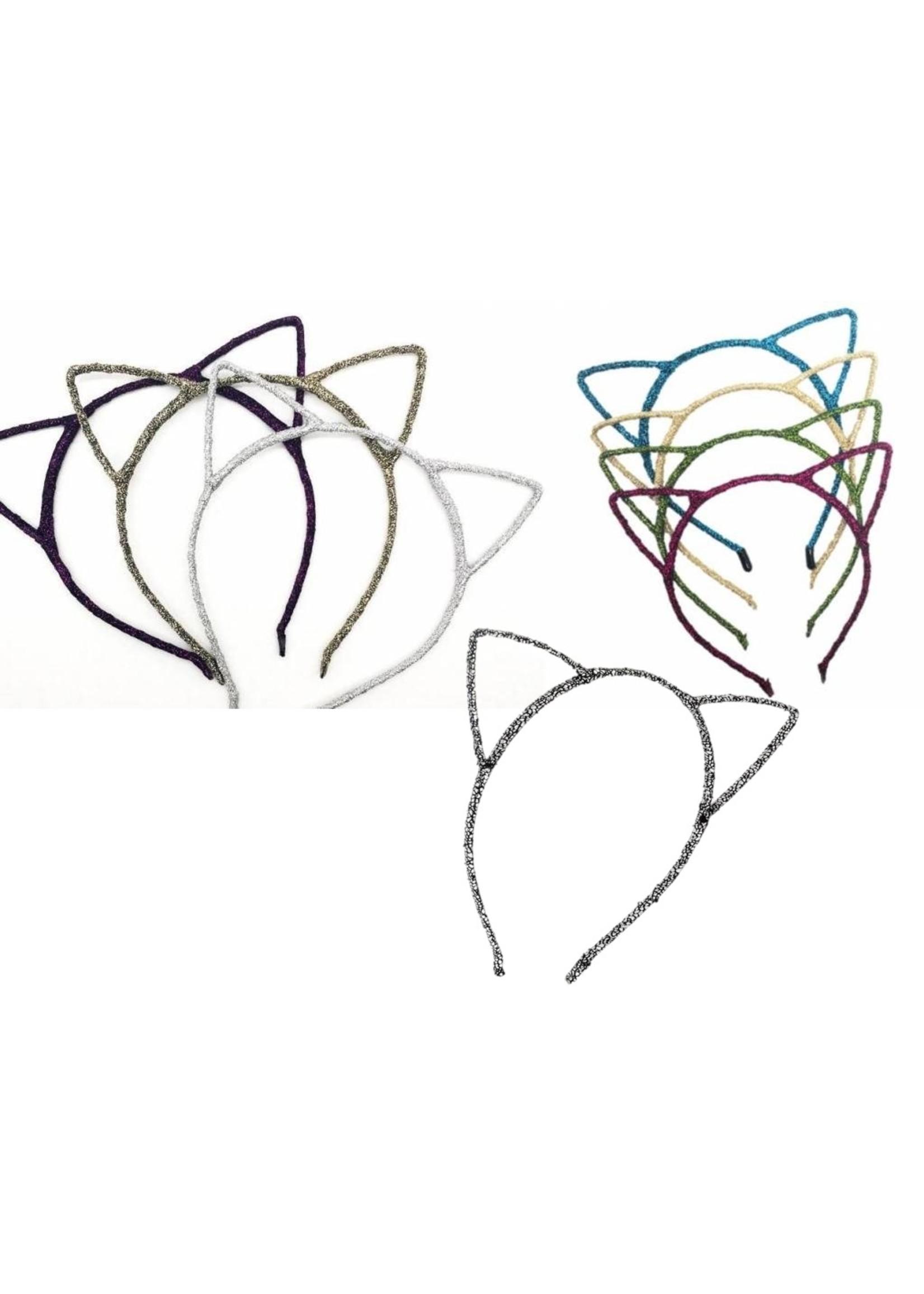 Annienas glitter haarband met katten oren