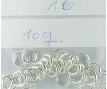 Binderringe offen 19706 Metall vers. 8mm 10gr ca 30 St